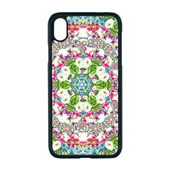 Floral Wreath Tile Background Image Apple Iphone Xr Seamless Case (black)