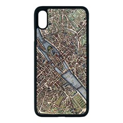 Paris Map City Old Apple Iphone Xs Max Seamless Case (black)