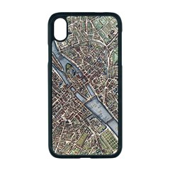 Paris Map City Old Apple Iphone Xr Seamless Case (black)