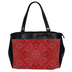 Tile Background Image Graphic 35 Red Oversize Office Handbag (2 Sides)