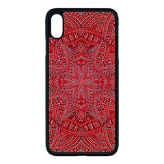 Tile Background Image Graphic 35 Red Apple Iphone Xs Max Seamless Case (black)