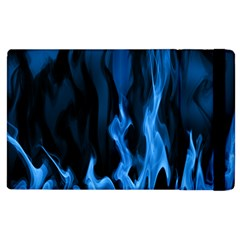 Smoke Flame Abstract Blue Apple Ipad 2 Flip Case by Desi8477