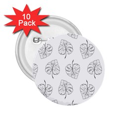 Tropical Leaves 2 25  Buttons (10 Pack)  by goljakoff