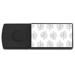 Tropical Leaves Rectangular Usb Flash Drive by goljakoff