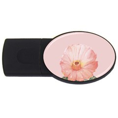 Cactus Flower On Pink Ink Usb Flash Drive Oval (4 Gb) by goljakoff