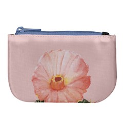 Cactus Flower On Pink Ink Large Coin Purse by goljakoff