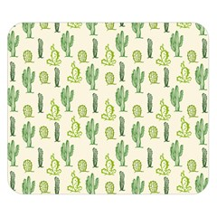 Cactus Pattern Double Sided Flano Blanket (small)  by goljakoff