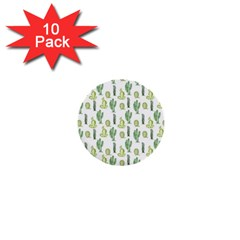 Cactus Pattern 1  Mini Buttons (10 Pack)  by goljakoff