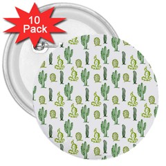 Cactus Pattern 3  Buttons (10 Pack)  by goljakoff