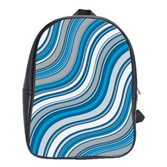 Blue Wave Surges On School Bag (large) by WensdaiAddamns