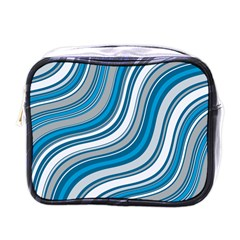 Blue Wave Surges On Mini Toiletries Bag (one Side) by WensdaiAddamns