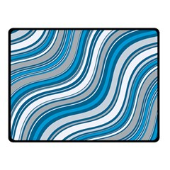 Blue Wave Surges On Double Sided Fleece Blanket (small)  by WensdaiAddamns
