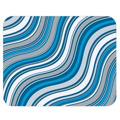 Blue Wave Surges On Double Sided Flano Blanket (medium)  by WensdaiAddamns