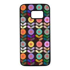 Zappwaits Flowers Samsung Galaxy S7 Black Seamless Case