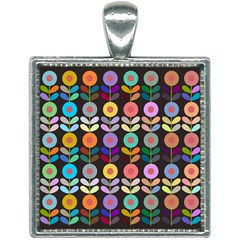 Zappwaits Flowers Square Necklace