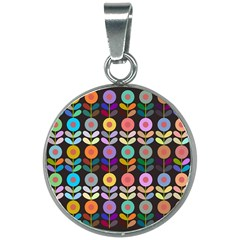 Zappwaits Flowers 20mm Round Necklace