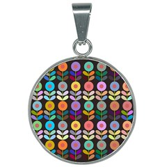 Zappwaits Flowers 25mm Round Necklace
