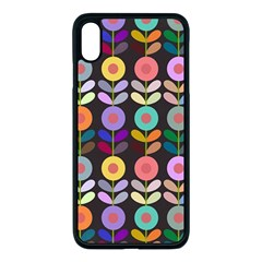 Zappwaits Flowers Apple Iphone Xs Max Seamless Case (black)
