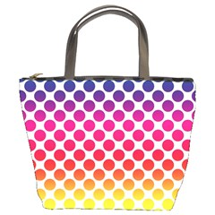 Rainbow Polka Dots Bucket Bag