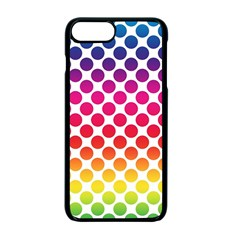 Rainbow Polka Dots Apple Iphone 7 Plus Seamless Case (black) by retrotoomoderndesigns