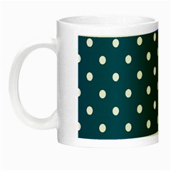Turquoise Polka Dot Night Luminous Mugs