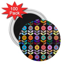 Zappwaits Flowers 2 25  Magnets (100 Pack)
