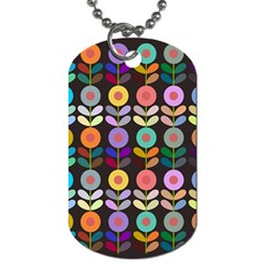 Zappwaits Flowers Dog Tag (two Sides)