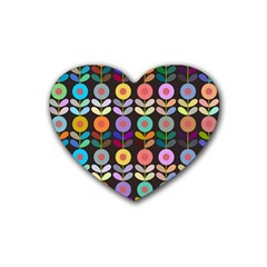 Zappwaits Flowers Rubber Coaster (heart)