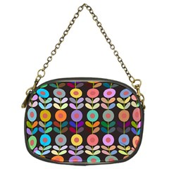 Zappwaits Flowers Chain Purse (one Side)
