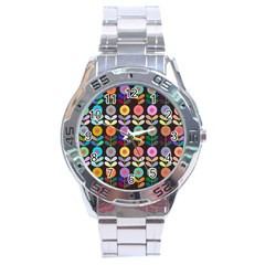 Zappwaits Flowers Stainless Steel Analogue Watch