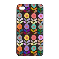 Zappwaits Flowers Apple Iphone 4/4s Seamless Case (black)