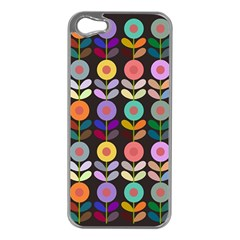 Zappwaits Flowers Apple Iphone 5 Case (silver)