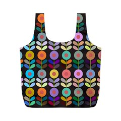 Zappwaits Flowers Full Print Recycle Bag (m)