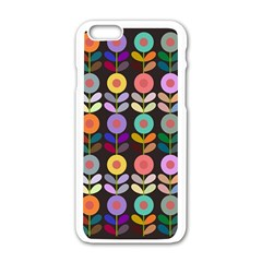 Zappwaits Flowers Apple Iphone 6/6s White Enamel Case