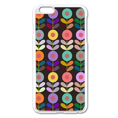 Zappwaits Flowers Apple Iphone 6 Plus/6s Plus Enamel White Case