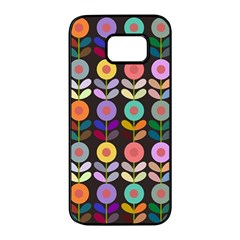 Zappwaits Flowers Samsung Galaxy S7 Edge Black Seamless Case