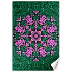 The Most Uniqe Flower Star In Ornate Glitter Canvas 20  X 30  by pepitasart