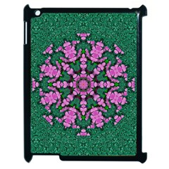 The Most Uniqe Flower Star In Ornate Glitter Apple Ipad 2 Case (black) by pepitasart
