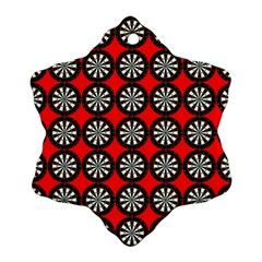 Dart Board Snowflake Ornament (two Sides)