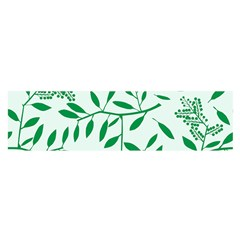 Leaves Foliage Green Wallpaper Satin Scarf (oblong) by Mariart