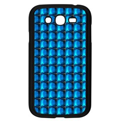 Background Pattern Structure Blue Samsung Galaxy Grand Duos I9082 Case (black) by AnjaniArt