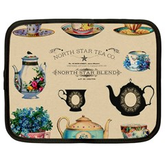 Teacups & Teapots Netbook Case (large) by WensdaiAddamns