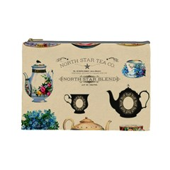 Teacups & Teapots Cosmetic Bag (large) by WensdaiAddamns