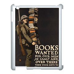 Vintage Books Wanted Apple Ipad 3/4 Case (white) by WensdaiAddamns
