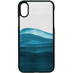 Ocean Waves Painting Apple Iphone Xs Seamless Case (black) by goljakoff