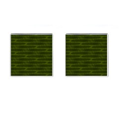 Seaweed Green Cufflinks (square) by WensdaiAmbrose