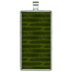 Seaweed Green Rectangle Necklace by WensdaiAmbrose