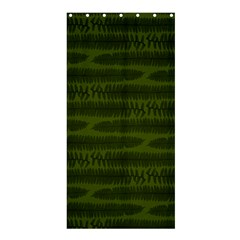 Seaweed Green Shower Curtain 36  X 72  (stall)  by WensdaiAmbrose