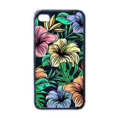 Hibiscus Dream Apple Iphone 4 Case (black)
