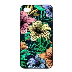 Hibiscus Dream Apple Iphone 4/4s Seamless Case (black)